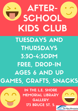 After School Kids Club at LE Shore Library