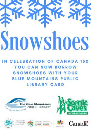 Borrow Snowshoes with your Library Card