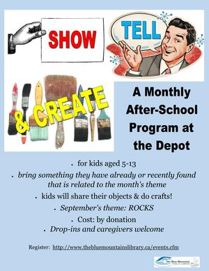 Show, Tell & Create: After School At The Depot