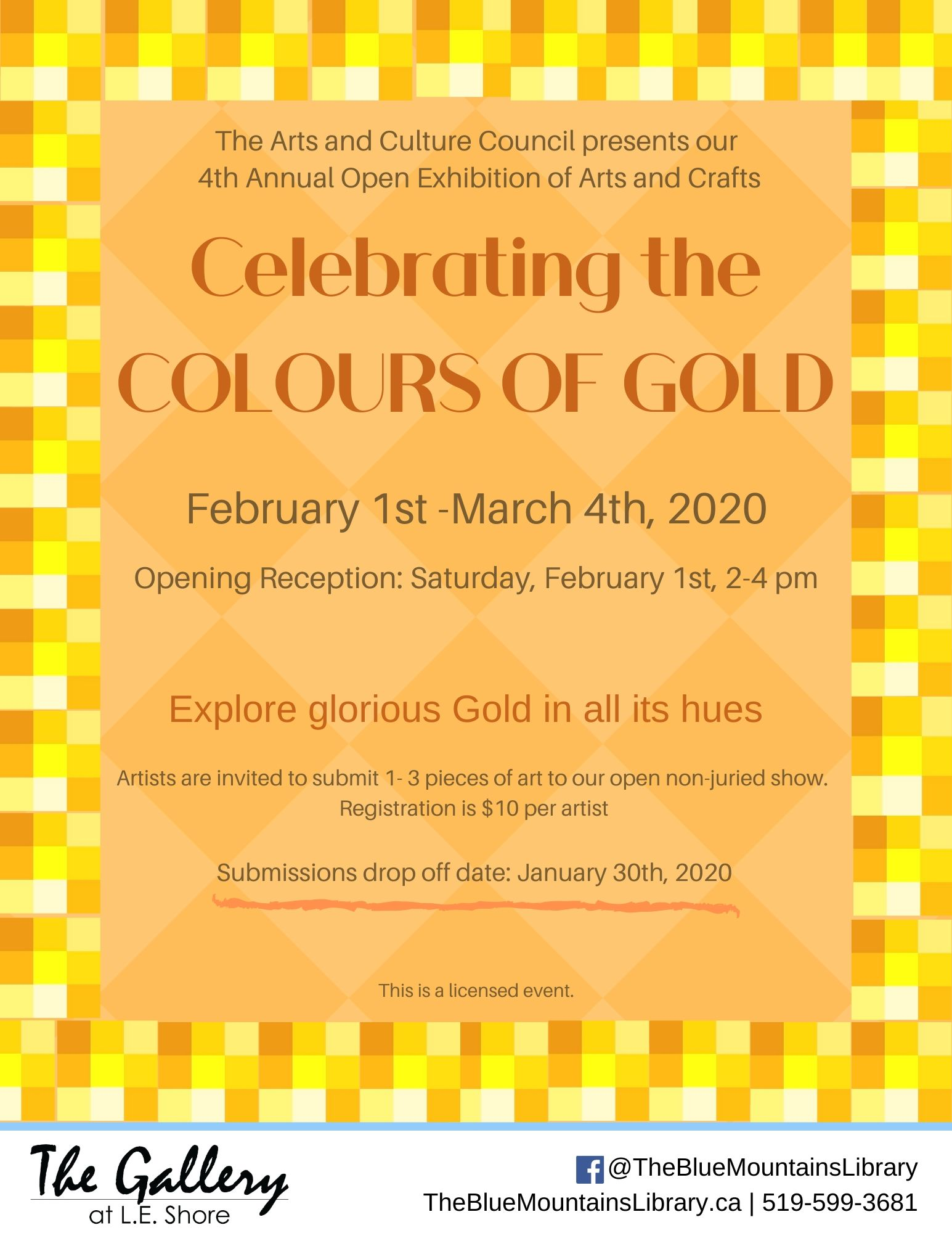CELEBRATING THE COLOURS OF GOLD in FEBRUARY!
